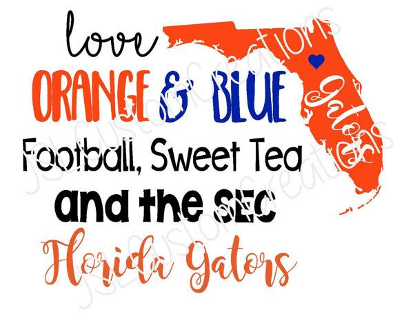 Florida Football SVG, Orange & Blue, Southern State, SEC, Florida Gators, PNG, eps, Files