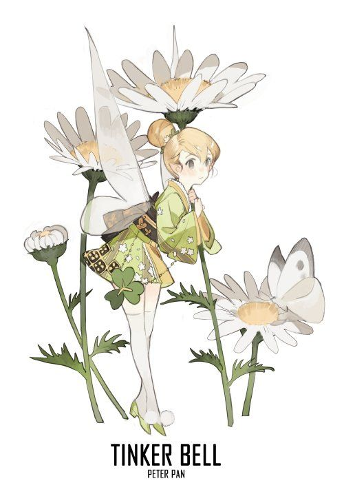 tinker bell peter pan hello kimono fairy pixie dust