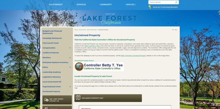 California City Unveils Unclaimed Property Site Using State Data