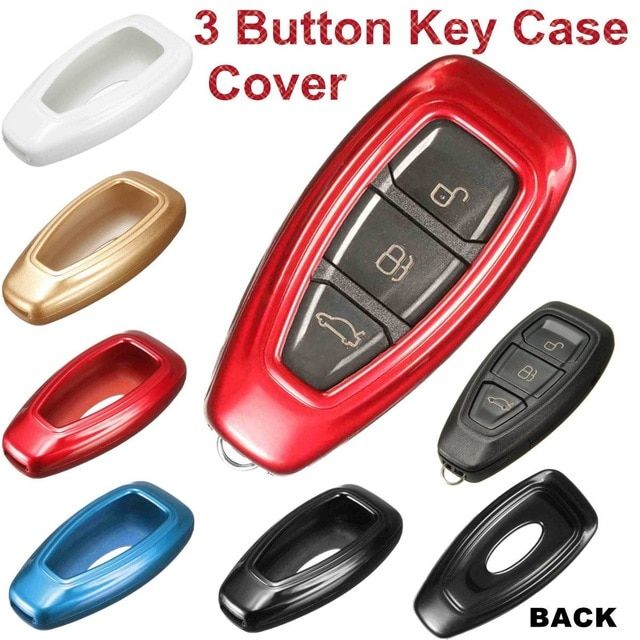 5 Color Plastic 3 Button Car Remote Key Case Fob Cover For Ford