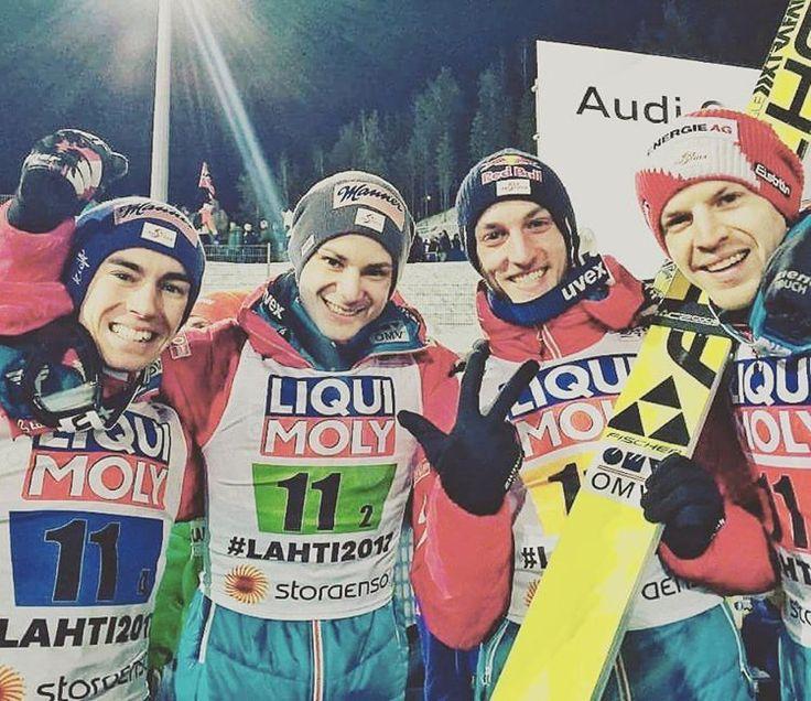 "269 Likes, 2 Comments - JumpandReach (@jumpandreach) on Instagram: ""Bronze!!! What a competition!? #lahti2017 #skijumpingaut #hayböckmichael #kraftstefan…"""