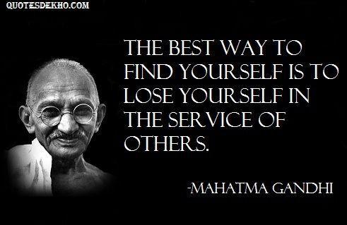 Mahatma Gandhi Advice Quotes Status With Picture