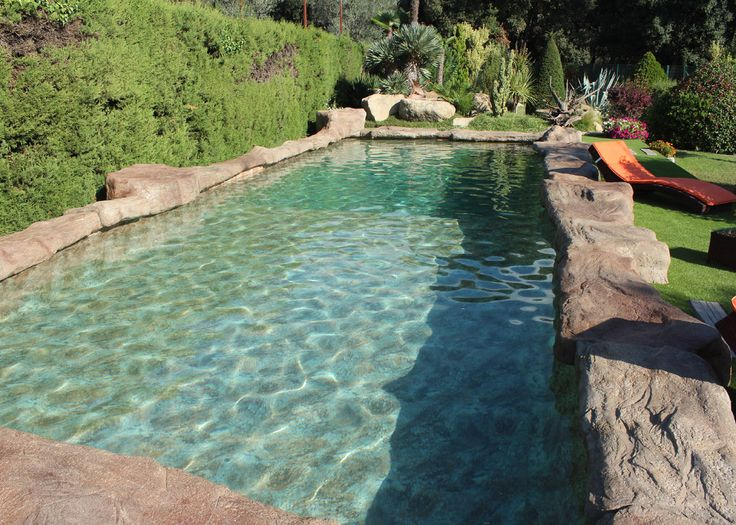 297 best ponds and pools images on pinterest natural for Deep swimming pools for garden