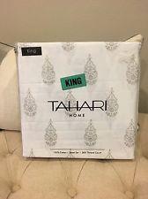 New Gray Print Tahari 300 Thread Count KING Sheet Set