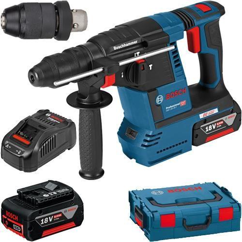 Bosch Gbh18v 26f 18v Sds Drill Chuck 2x 6ah Tools In