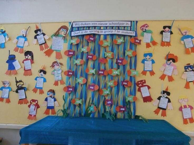 Thema start schooljaar. Duikertjes duiken een nieuw schooljaar in en is tevens de knutsel 'dit ben ik'.