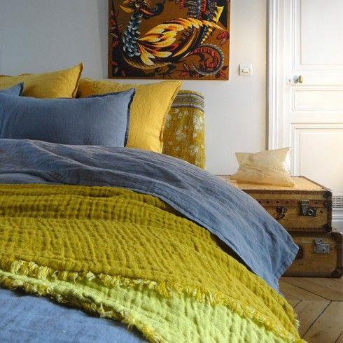Le Monde Sauvage - Couvre lit en lin Gauffré 360€