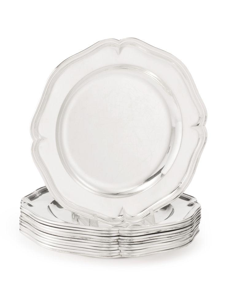 Royal: A set of twelve German silver dinner plates forFrederick the Great, Christian Lieberkühn the Younger, Berlin, 1746-47 | lot | Sotheby's