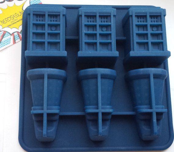 Doctor Who Tardis and Daleks Silicone Mold Tray for by Nerdgasum