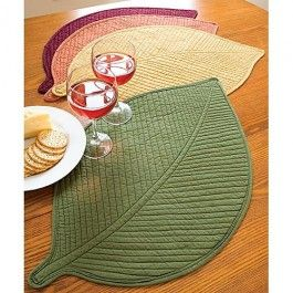 Quilted Leaf Placemats | Sturbridge Yankee Workshop
