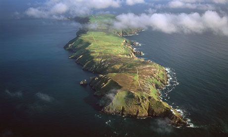 Lundy Island, in the Bristol Channel. Eradication of rats from the rocky islands off Devon  has resulted in a dramatic boost of some birds, including the endangered burrowing seabird that nests there