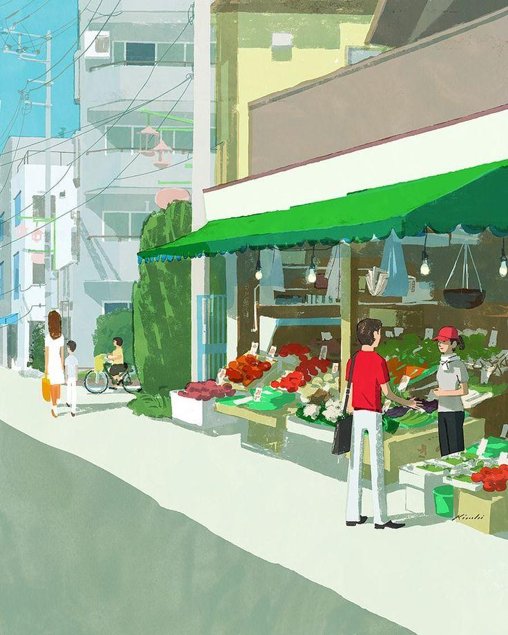 #japan #tokyo #illustration #illustrator #people #life #lifestyle #store #shop…