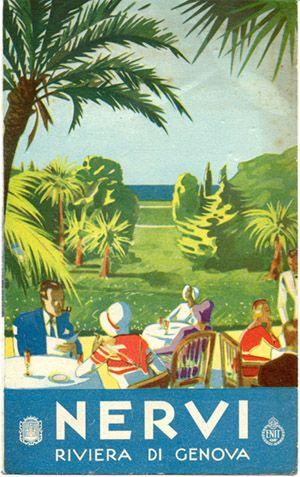 "Travel Brochure for Nervi, Riviera di Genova, circa 1933  Published by the City of Nervi.  Signed ""S.A.E. Oliveri & Co. - Genova."""