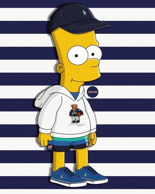 Supreme Wallpaper Bart Simpson Dope Art The Simpsons Light Iphone Wallpapers Tattoos Bape Street