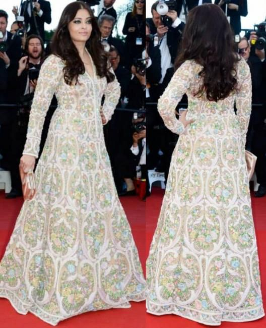 Aishwarya Rai Bachan in Abu Jani Sandeep Gown at Cannes -