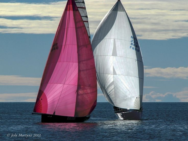 """""""Two of Us"""" Regatta in Nelson, New Zealand. Captured with camera Canon PowerShot S5 IS, f/5, 1/1600 sec, ISO-80."""