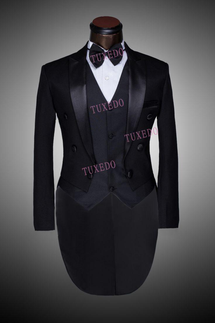 Men wedding suit peak performance tuxedo tailcoat wedding suit