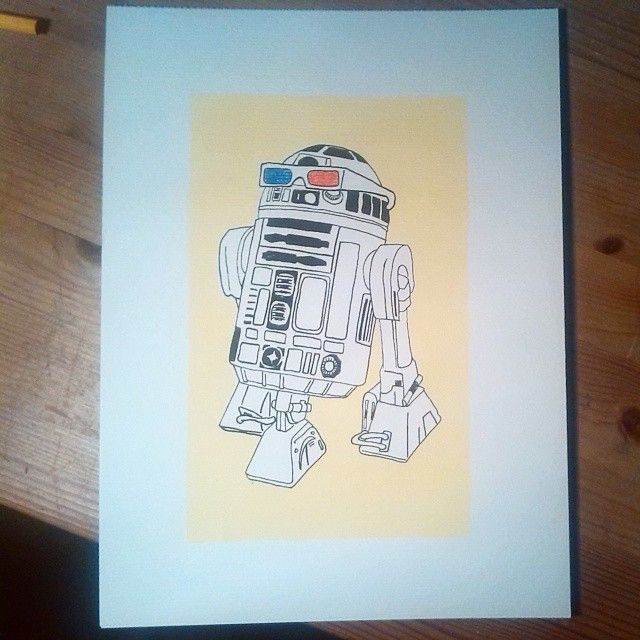 R23D - May the 4th be with you! #starwars #R2D2 #Hassebostrosby #art #print #maythe4th