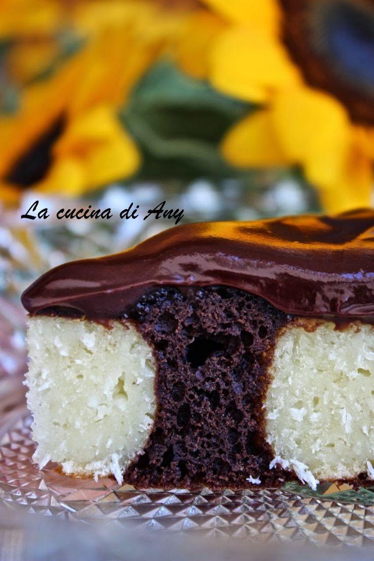 La cucina di Any: Torta al cioccolato con palline di ricotta e cocco - Prajitura cu ciocolata si bilute de branza si cocos