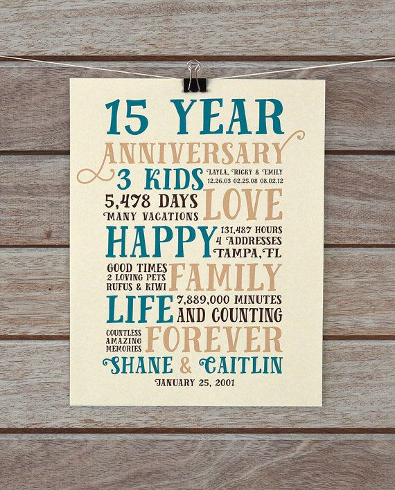 Wedding Anniversary Gifts By Year Chart: 25+ Best Ideas About 15 Year Anniversary On Pinterest