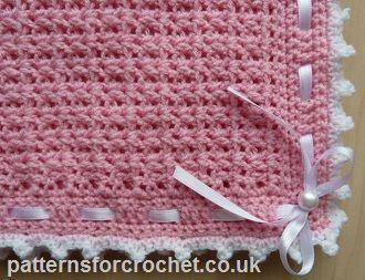 Free baby crochet pattern stroller Cover/Blanket from http://www.patternsforcrochet.co.uk/baby-pram-cover-blanket-usa.html #patternsforcrochet #freecrochetpatterns