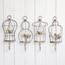 Aibei-francese stile retrò in ferro battuto uccello appendiabiti 1 pz vintage decorazione della casa porta appeso ganci rails 29*12 cm(China (Mainland))