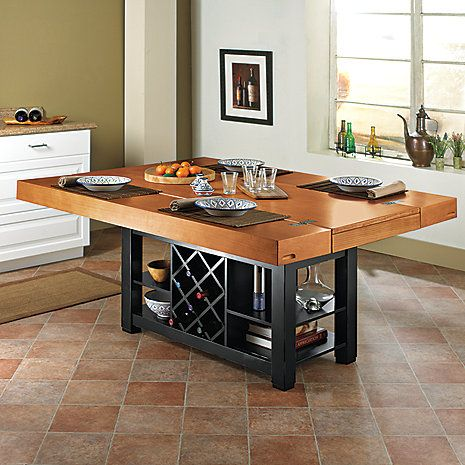 Two Tone Italian Kitchen Island/Table - Wine Enthusiast