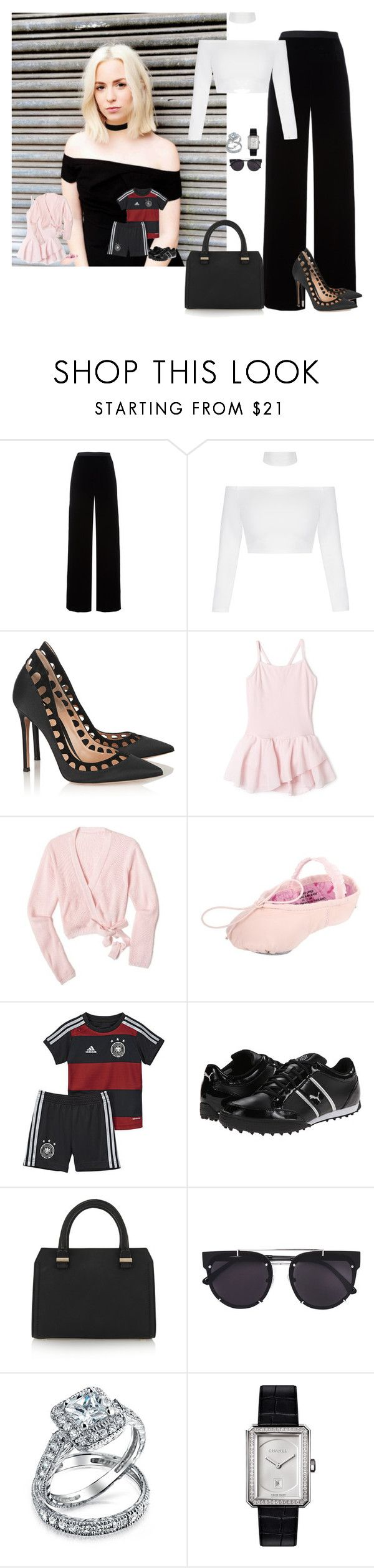 """""""Sin título #1171"""" by wiki0622 ❤ liked on Polyvore featuring T By Alexander Wang, Gianvito Rossi, Capezio, Puma, Victoria Beckham, Vera Wang, Bling Jewelry and Chanel"""
