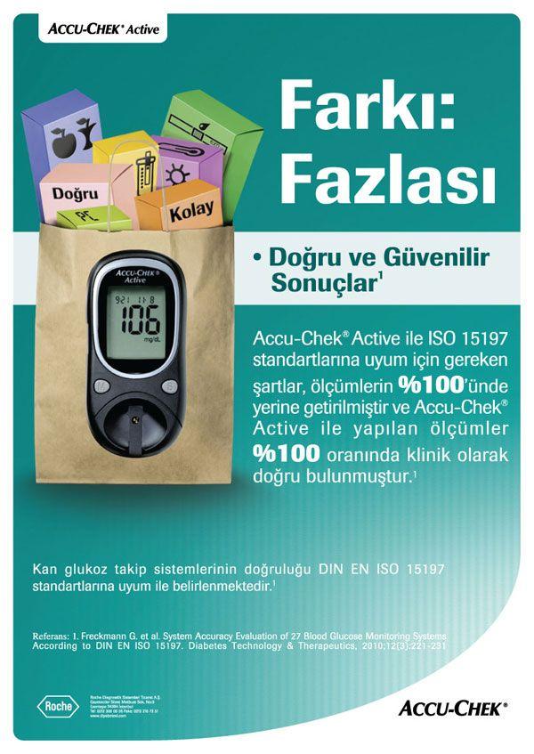 Magazine Ad for Accu-Chek Active by Roche Diagnostics. diabets, health.