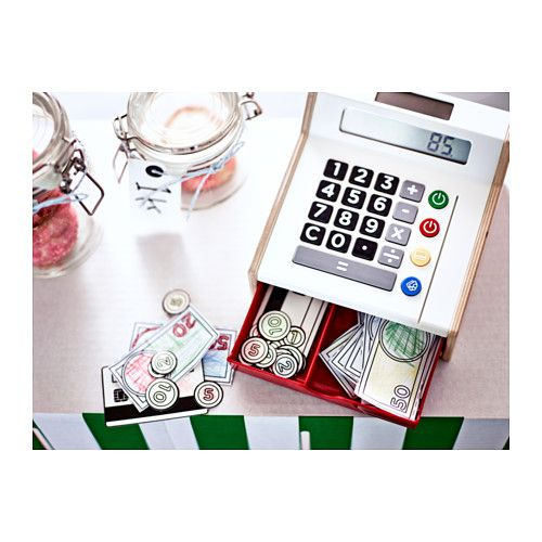 DUKTIG Toy cash register IKEA Your child will have fun pretending to shop with their friends, while they also learn about counting and money.
