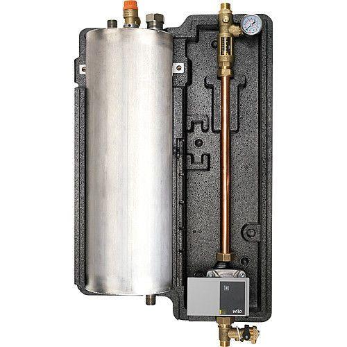 Bei ausgeschaltetem System befindet sich der gesamte Inhalt in dem Tank der Drain Unit. Die Kollektoren und der obere Teil der Installation sind leer (sie enthalten Luft), weswegen das System gegen Überhizung und Frost geschützt ist.   eBay!