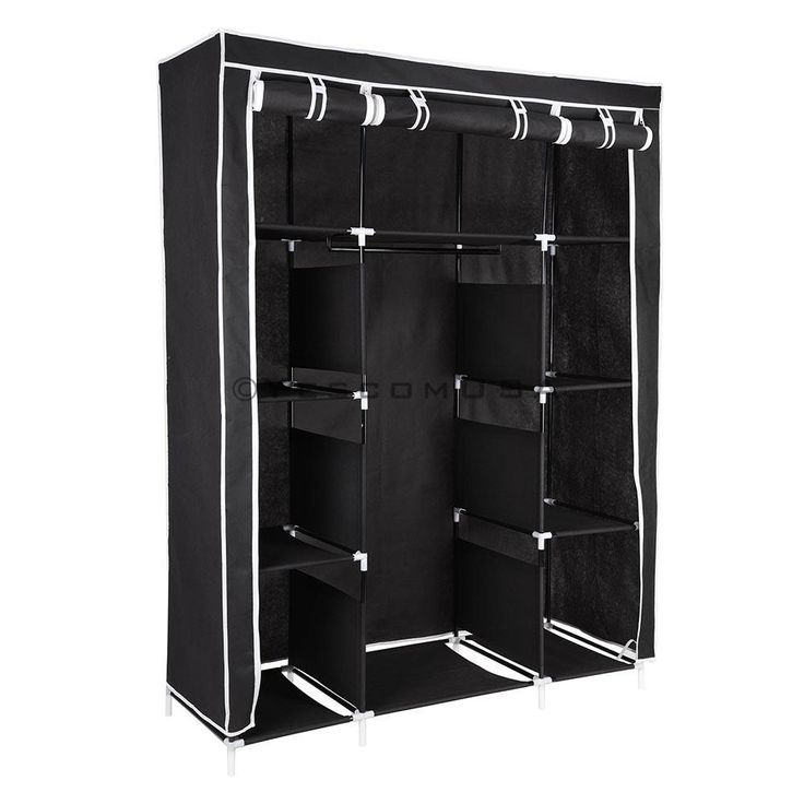 "50"" Portable Wardrobe Storage Clothes Closet Organizer Color Options"