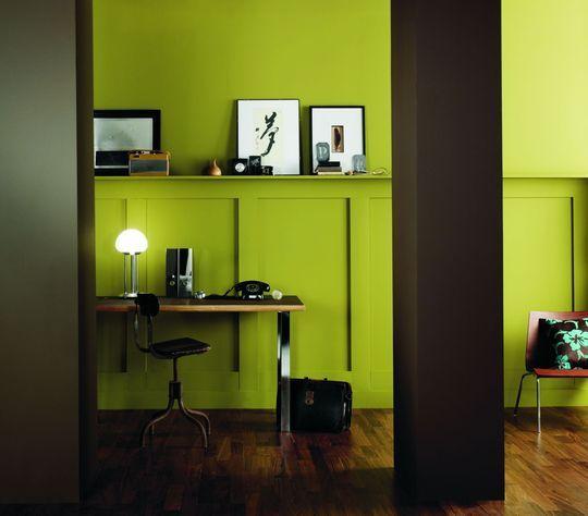 Couleur peinture maison pourquoi on aime le vert bureaux - Peinture kaki clair ...