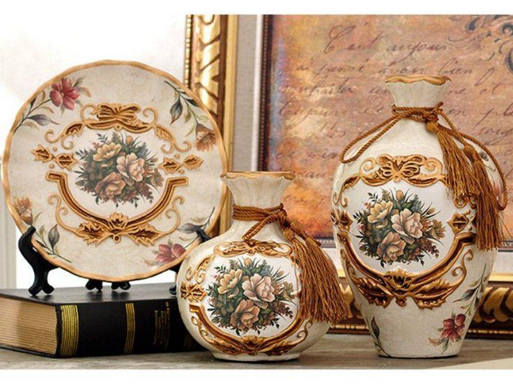 Royal Collection - 3 Piece Ceramic Vase Set - Light Brown – Samiksha's