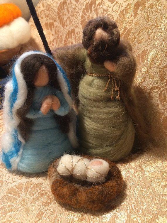 Natività in lana cardata e fiaba di CreazioniMonica su Etsy