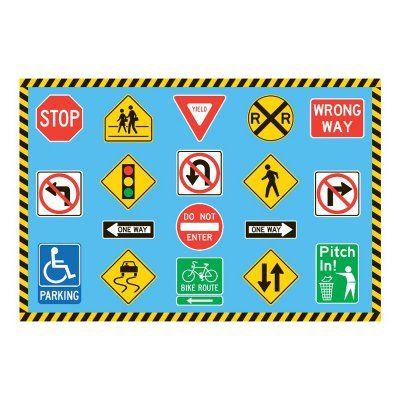 Fun Time Traffic Signs Rug - FT-130 5178