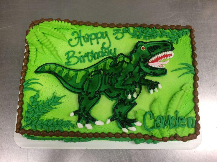 Dinosaur cake!  #dinosaur #dino #cake #cakedecorating #cakedecorator #green #teeth #rawr