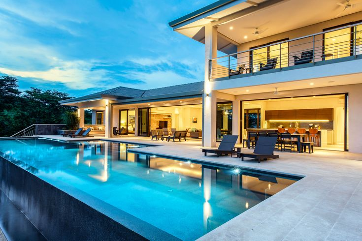 This incredible, contemporary, luxury estate is situated on almost 3 acres of tropical paradise in the Flamingo Beach area of Guanacaste Costa Rica. You have complete, secured privacy from all directions and and a sweeping panoramic Pacific Ocean view from every room.