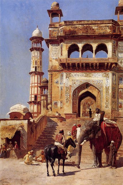 Before A Mosque - Edwin Lord Weeks @@@@.....http://www.pinterest.com/kevinmcl/orientalist-paintings/