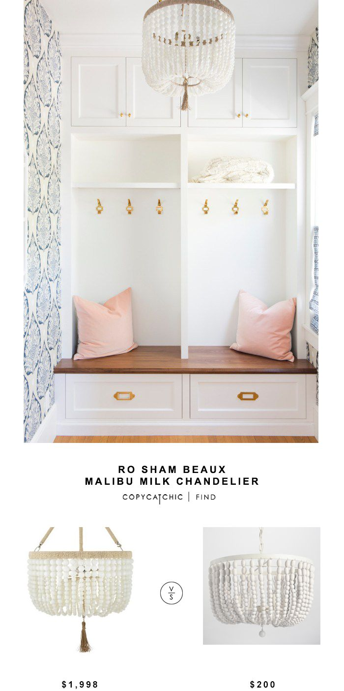 Ro Sham Beaux Malibu Milk Chandelier