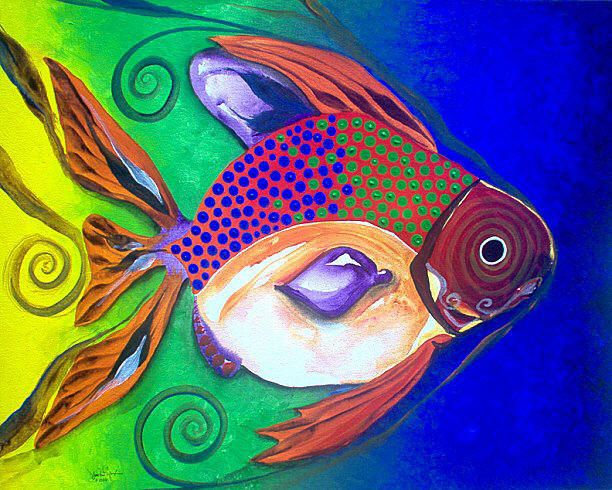 169 best images about one fish two fish j vincent 39 s fish for Fish paintings on canvas