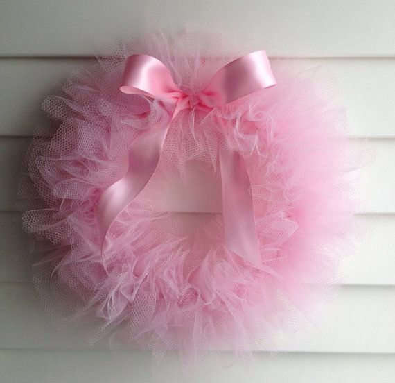 Ballerina Party Tutu Wreath/ It's a Girl Wreath  12 by shopfluff, $28.00