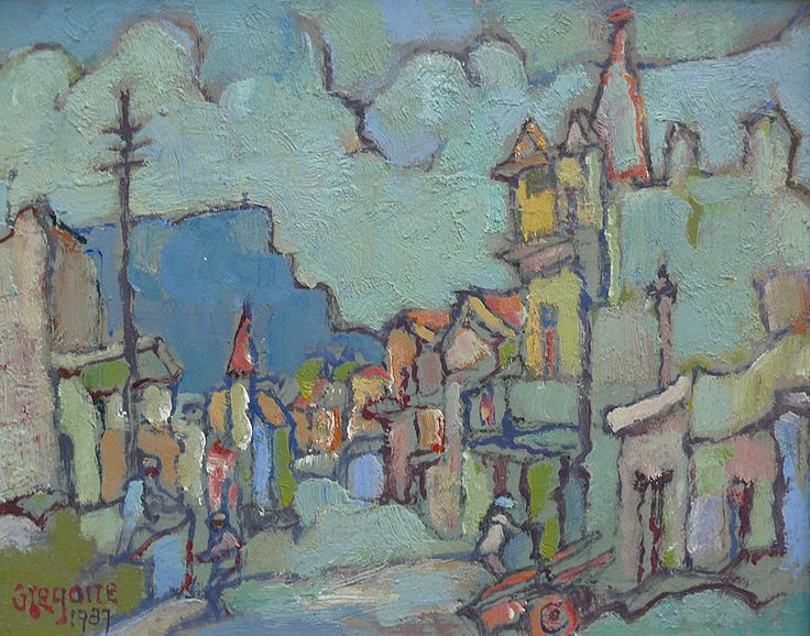 Boonzaier, Gregoire | District Six | Oil on board | Size : 240 x 300mm | Code : 9758