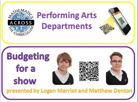 Our PERFORMING ARTS Maths Champions use PIE CHARTS and their own music, to demonstrate BUDGET for our latest show. TAR