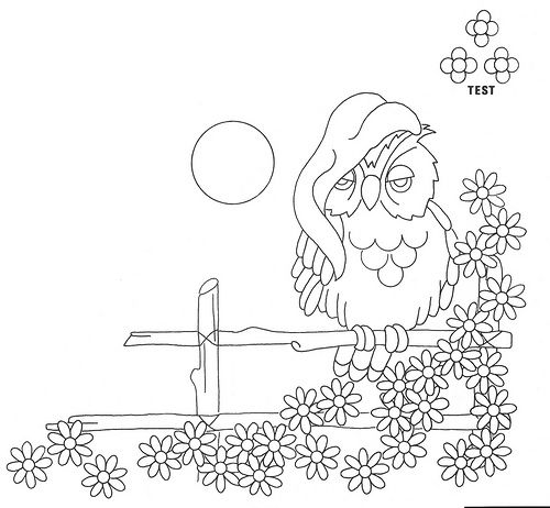 owl embrodery transfer patterns | vintage embroidery patterns
