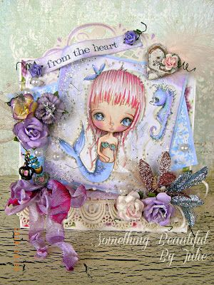 Something Beautiful By Julie: W is for Water P Pinky Dolls Card