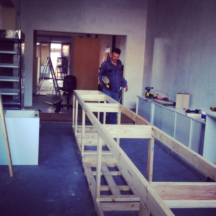 Nic building the counter. Exciting! ~ Mon