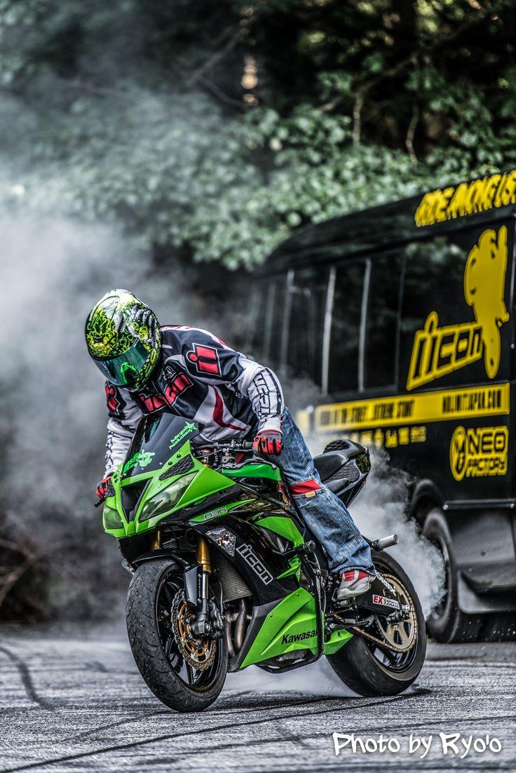 # kawasaki # motorcycle # green