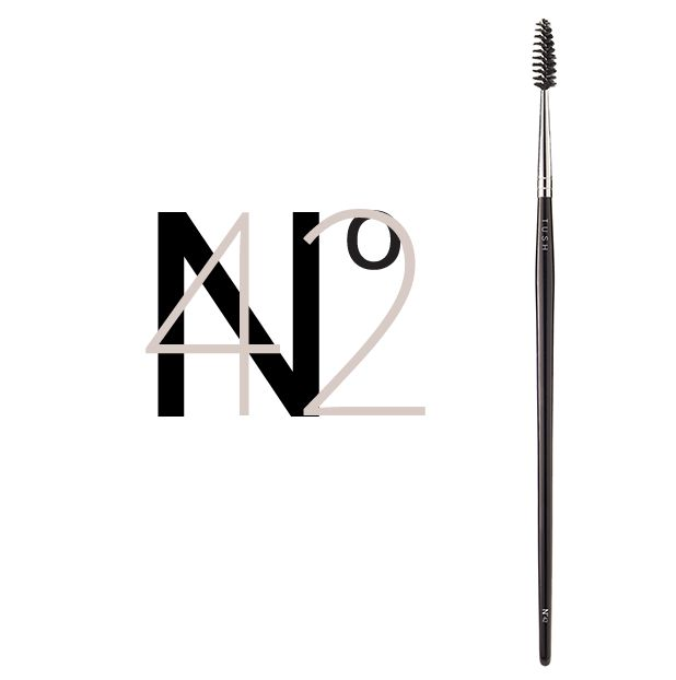 Nr 42 Mascara and Brow Brush. A synthetic brush designed to shape and perfectly separate and groom your lashes and eyebrows. Available at www.tushbrushes.com