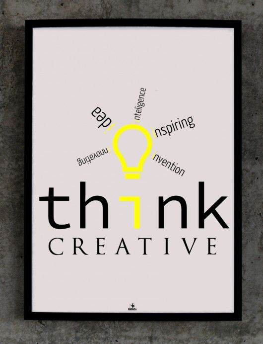 Plakat Think creative